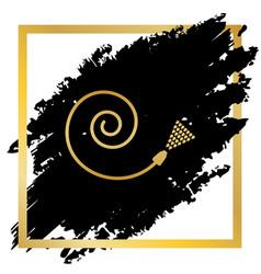 garden hose sign golden icon at black vector image