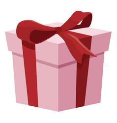 Giftbox christmas present vector