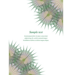 Green brown page corner design template vector