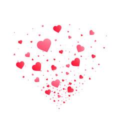 heart confetti burst isolated vector image