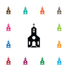 Isolated catholic icon faith element can vector