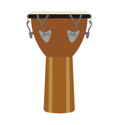 Isolated leather drum vector