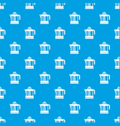 juicer pattern seamless blue vector image