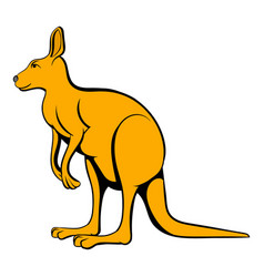 kangaroo icon cartoon vector image