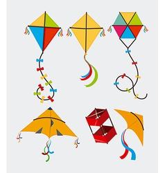 Kite design over white background vector