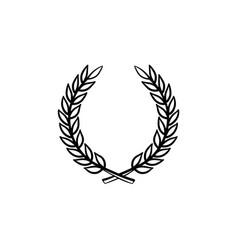 laurel wreath hand drawn sketch icon vector image
