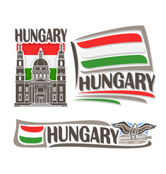 logo for hungary vector image