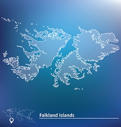 Map of Falkland Islands vector image