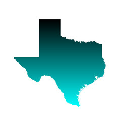map texas vector image