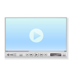 media player in light colors vector image
