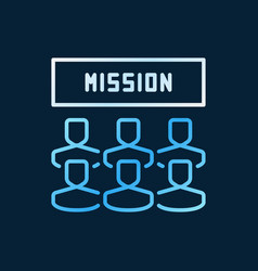 mission and people colored outline icon vector image
