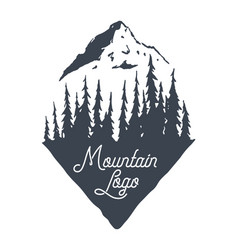 mountain logotype logo forest nature forest vector image