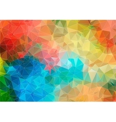 multicolor mosaic composition with ceramic shapes vector image
