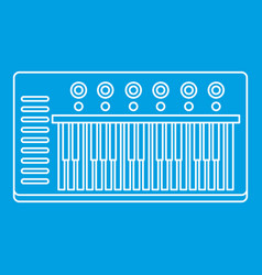 Music synthesizer icon outline style vector