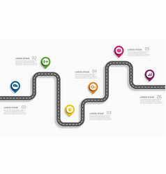 navigation roadmap infographic timeline concept vector image