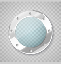 Porthole with transparent glass circle vector