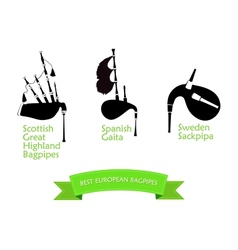 Poster with Most Popular Bagpipes vector image