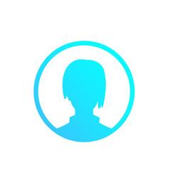 Profile placeholder default avatar girl vector