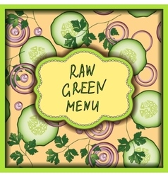 Raw green menu on the tender rose background vector