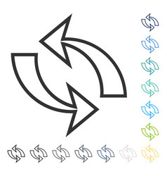 Refresh arrows icon vector