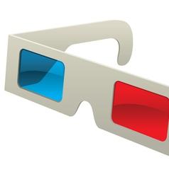 Retro stereoscope paper 3d glasses vector