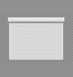 Roller shutter door for garage or warehouse vector