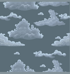 seamless texture with clouds template vector image