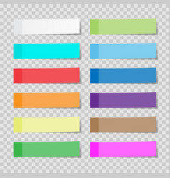 set of paper sheets or sticky stickers isolated vector image