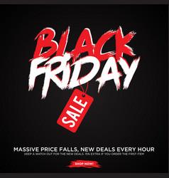 simple design letter black friday sale banner vector image