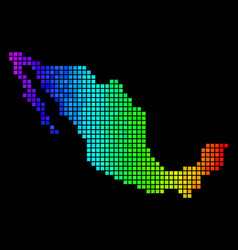 Spectrum pixel mexico map vector