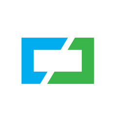 Square business finance logo image vector