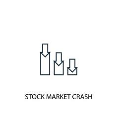stock market crash concept line icon simple vector image
