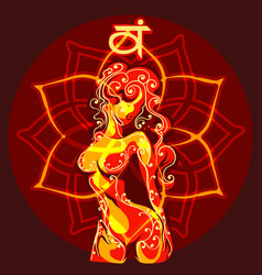svadhishthana chakra vector image