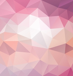Sweet pastel pink polygon triangular pattern vector