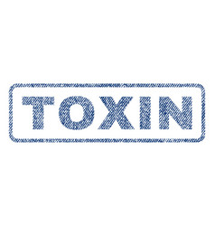 toxin textile stamp vector image