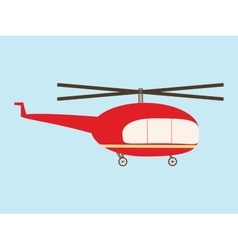 Vintage helicopter vector
