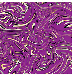 Violet and gold marble abstract background vector