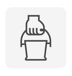 watering plant icon vector image