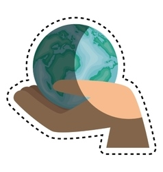 World planet earth isolated icon vector