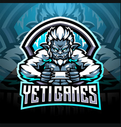 Yeti games esport mascot logo design vector