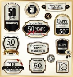 Anniversary luxury labels vector