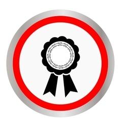 Award ribbon icon Flat design style vector image