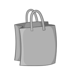 Bag with handles icon black monochrome style vector image vector image