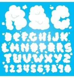 Cute cloud font vector image