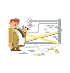 detective character man vector image vector image