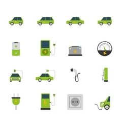 Electric Car Icon Set vector image