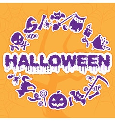 Halloween banner placard invitation or greeting vector