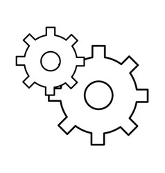 line gear symbol process industry vector image vector image