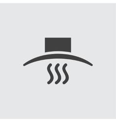 Pan lid icon vector image