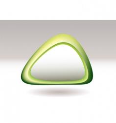 triangle pebble green vector image vector image